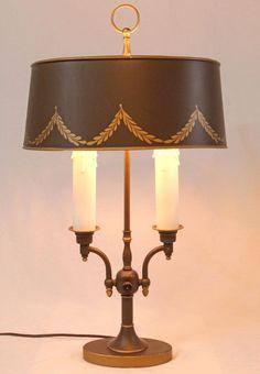 Tole Painting, Metallic Paint, Candlesticks, My House, Table Lamp, Shades, Vintage, Lighting, Ebay