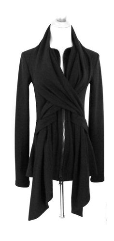 Cross over black jacket #style