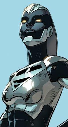 "lgbtincomics: ""Steel (Natasha Irons) in Injustice 2 "" Dc Heroes, Comic Book Heroes, Comic Books Art, Book Art, Cyberpunk, Injustice 2 Characters, Lar Gand, Val Zod, Steel Dc Comics"