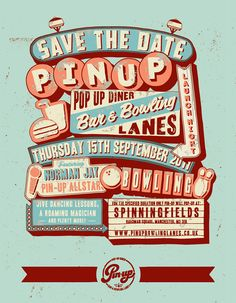 Awesome. Pin Up Bowling Alley by Alex Fowkes, via Behance