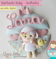 Felt Decorations, Baby Shower Decorations, Felt Crafts, Diy And Crafts, Bear Felt, Felt Wreath, Baby Mobile, Name Banners, Animal Decor