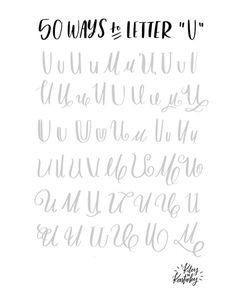 50 Möglichkeiten den Buchstaben U zu lettern