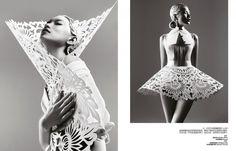 laser cut paper dress