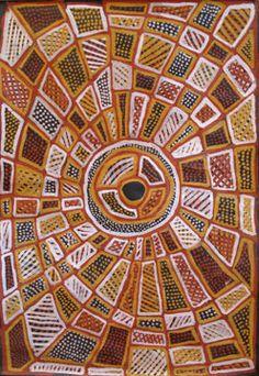 Jean Baptiste Apuatimi / Kurlama 2012 earth pigment on canvas 150 x 100cm