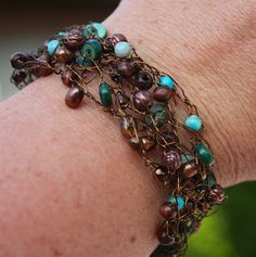 Christy: Crocheted Wire Bracelet