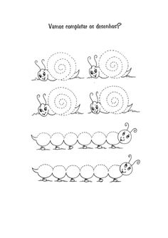 caracol e lagarta Autumn Theme, Math, Caterpillar, Drawings, Math Resources, Early Math, Mathematics