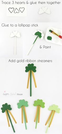 Lucky Shamrock Wands A St. Patrick's Day Craft Lucky Shamrock Wands A St. Craft Activities For Kids, Diy Crafts For Kids, Arts And Crafts, March Crafts, Spring Crafts, St Paddys Day, St Patricks Day, Holiday Fun, Holiday Crafts