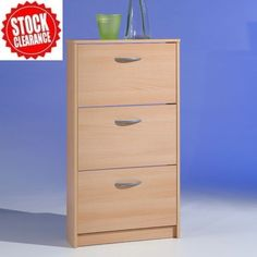 Step3 Shoe Cabinet In Beech With 3 Drawer