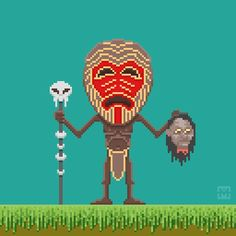 Day 9 / 366 Tribal  #tribal #pixelart #pixel_art  #animation #aseprite