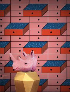 Feathr Drawer Wallpaper by Tong Ren B&q Wallpaper, Graphic Wallpaper, Painting Wallpaper, Adhesive Wallpaper, Stunning Wallpapers, Latest Wallpapers, Scatter Cushions, Chair Cushions, Tong Ren