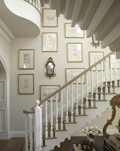 gotta do something in our stairway...wonder how you get those pictures way up high??