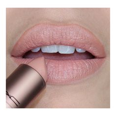 Mac CREME D'NUDE lipstick with STRIPDOWN lip liner. Nude perfection