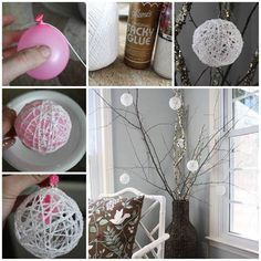 Glittery Snowball Christmas Ornaments #diy #craft