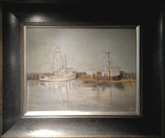"""""""Grey Day on the Bay"""" by Lu Haskew available through Columbine Gallery on Amazon Fine Art"""