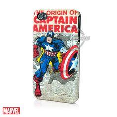 Marvel IP-1410 - Coque Rigide de Protection Captain America Sous Licence  Officielle Marvel Comics 0380c58bffd