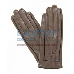 Decorative Stitching Ladies Brown Leather Gloves for $38.50 - https://www.leathercollection.com/en-we/decorative-stitching-ladies-brown-leather-gloves.html