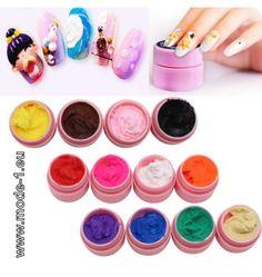 4D Modellier Gel Nagellack / Paste in 12 Farben