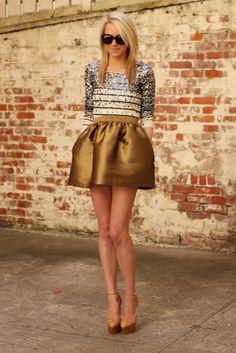 stripes, sparkles, skirt