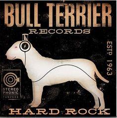 bull terrier wall art