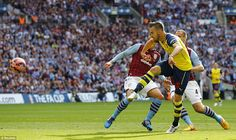 Welsh midfielder Aaron Ramsey came close to handing Arsenal a 1-0 lead but blazed his effo...