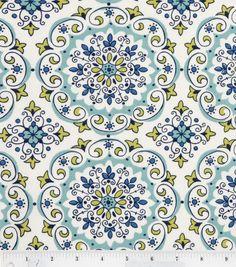 Scarf - Kathleen? Keepsake Calico Fabric-Capri Linework Medallion, , hi-res