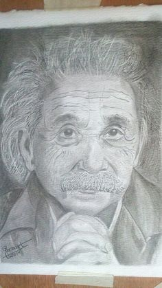 Albert Einstein, retrato a lápiz