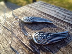 Feather Earrings - Silver Feather Earrings - Surgical Steel Fish Hooks on Etsy, $8.00