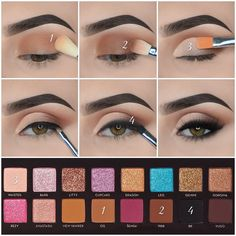Steps to glam using the Amrezy Palette