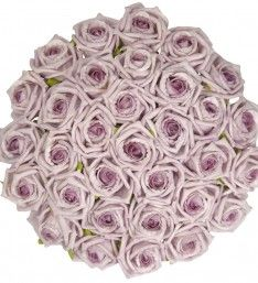 Brides Lilac Classic Foam Rose Wedding Posy Bouquet