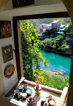 What a way to start the day!!! rePinned 031714TLK - Looking out the window in Mostar, Bosnia-Herzegovina