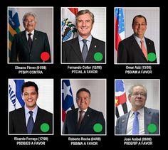 Blog dos Leoninos: Impeachment: confira como votaram os 6 senadores l...