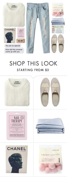 """""""youre so special"""" by khansaerika ❤ liked on Polyvore featuring Acne Studios, Dr. Martens, Love 21, Frette and Chanel"""
