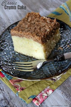 Classic Crumb Cake Recipe - from RecipeGirl.com