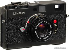 I managed to find one of these today complete with lens. Awesome that it takes Leica lenses too. UPDATE: I found a nice Leica Summicron-C lens to go with it so now it's just like the picture above. Just need a to make the collection complete. Kodak Camera, Rangefinder Camera, Film Camera, Camera Lens, Camera Obscura, 35mm Film, Old Cameras, Vintage Cameras, Leica