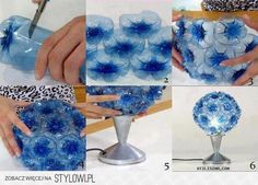 DIY Plastic Bottle Flower Ball Lampshade DIY Projects |… na Stylowi.pl