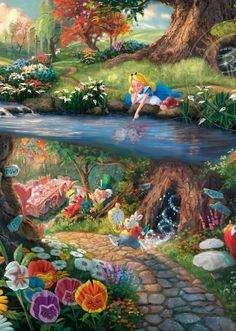 Wonderfully Detailed Disney Paintings by Thomas Kinkade