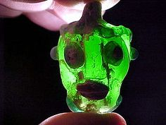 This is an extremely rare Carthaginian glass head pendant, circa 5th-4th century B.C. It is 1 1/2 inches long