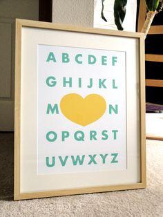 Modern Alphabet - a modern design print 13x19. $20.00, via Etsy.