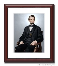 "President Abraham Lincoln 11x14"" Framed Photo Print Color Civil War ID 528388…"