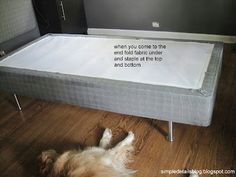 Upholstered Box Springs on Pinterest | Box Spring Cover, Box Springs ...