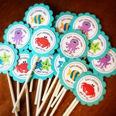 Under the Sea Cupcake Topper by Eleven Eleven Pixel