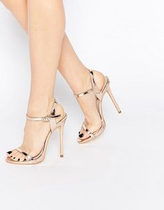 Public Desire | Public Desire Sparra Gold Barely There Heeled Sandals