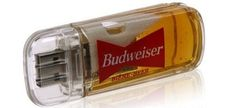 USB with Budweiser... oh yeah man, a usb steak for real man, fire, barbeque, football... ;-)