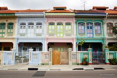 Joo Chiat houses, Singapore #ridecolorfully