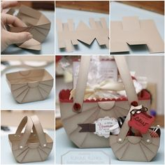 How to DIY Cute Paper Basket for Storage or Gifts  tutorial and instruction. Follow us: www.facebook.com/fabartdiy