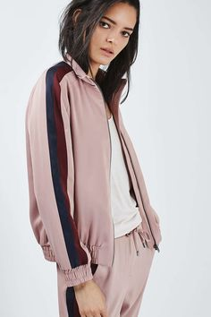 Stripe Detail Track Top - Tops - Clothing - Topshop