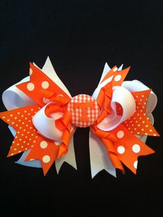 Tn Vols Monogrammed Hair Bow by LittleSouthernBelles on Etsy, $8.00