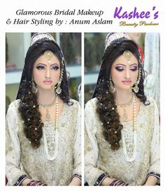 Glamorous bridal makeup and hair styling by Anum aslam