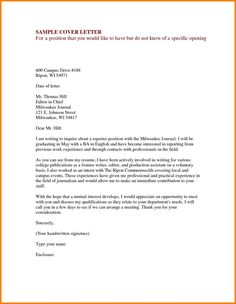 Sample Cover Letter Formats Sample Formatted Cover Letter With a