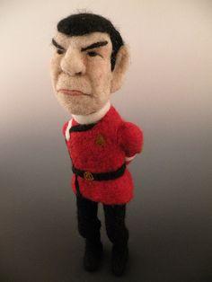 Needlefelted Spock